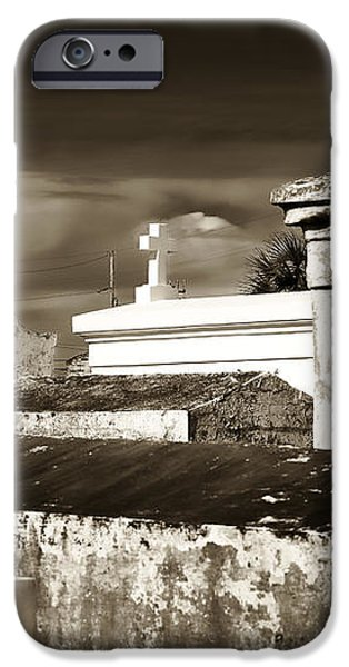 Vintage St. Louis Cemetery iPhone Case by John Rizzuto