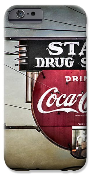 Vintage Star Drug Store iPhone Case by Perry Webster