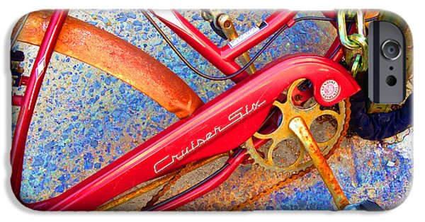 Interior Scene Mixed Media iPhone Cases - Vintage Street Bicycle Photo Detail iPhone Case by Tony Rubino