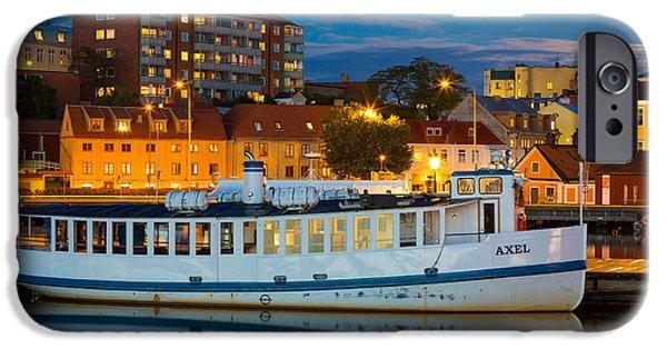 Scandinavia iPhone Cases - Vintage Swedish Ferry iPhone Case by Inge Johnsson