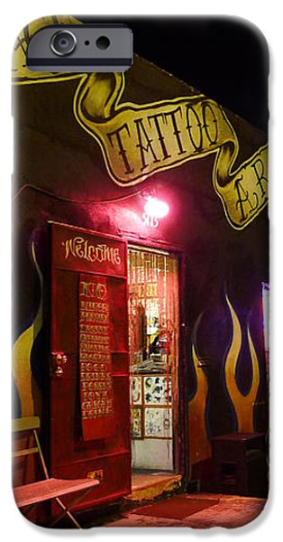 Vintage Tattoo Parlour iPhone Case by Nina Prommer