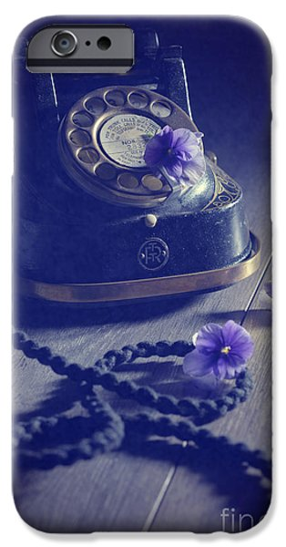 Intrigue iPhone Cases - Vintage Telephone iPhone Case by Amanda And Christopher Elwell