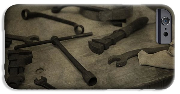 Work Tool iPhone Cases - Vintage Tools iPhone Case by Dan Sproul
