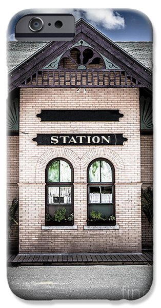 Windsor iPhone Cases - Vintage Train Station iPhone Case by Edward Fielding