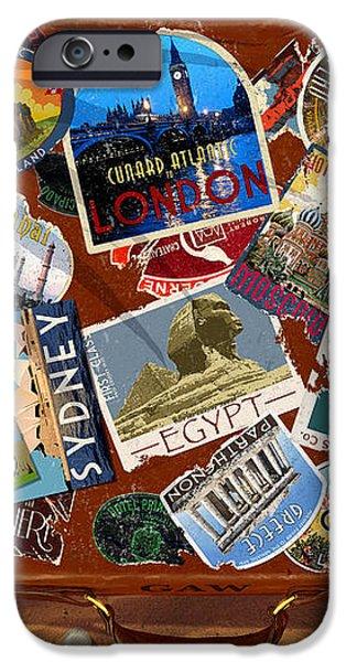 Vintage Travel Case iPhone Case by Garry Walton
