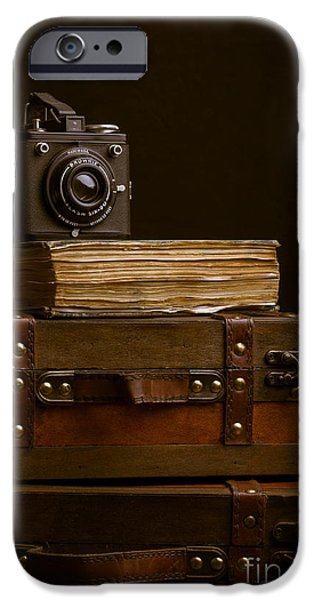 Brownie iPhone Cases - Vintage Travel iPhone Case by Edward Fielding