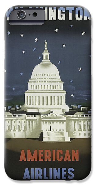 White House iPhone Cases - Vintage Travel Poster - Washington iPhone Case by Nomad Art And  Design