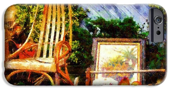 Collectible Mixed Media iPhone Cases - Vintage Treasures Milford iPhone Case by Janine Riley