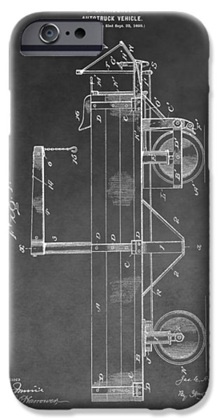 Tow Truck iPhone Cases - Vintage Truck Patent iPhone Case by Dan Sproul