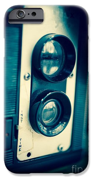 Reflex iPhone Cases - Vintage Twin Lens Reflex Camera iPhone Case by Edward Fielding