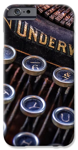 Vintage Typewriter 2 iPhone Case by Scott Norris