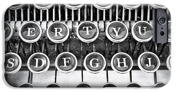 Processor Photographs iPhone Cases - Vintage Typewriter iPhone Case by Edward Fielding