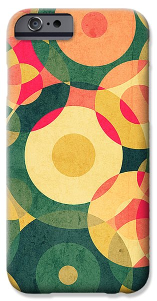 Retro Abstract iPhone Cases - Vintage Vacation iPhone Case by VessDSign