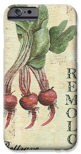 Antiques iPhone Cases - Vintage Vegetables 3 iPhone Case by Debbie DeWitt