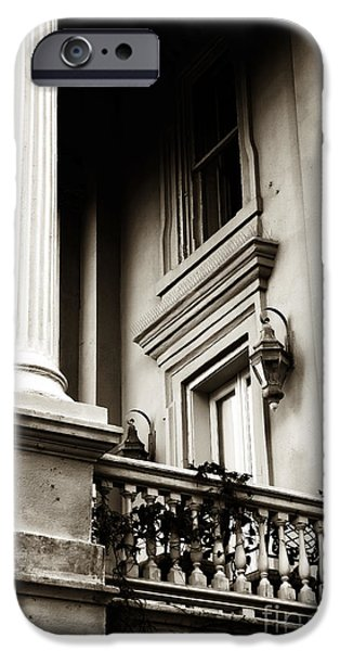 Vintage View in Charleston iPhone Case by John Rizzuto