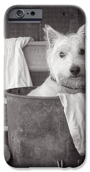 Cute Photographs iPhone Cases - Vintage Wash Day iPhone Case by Edward Fielding