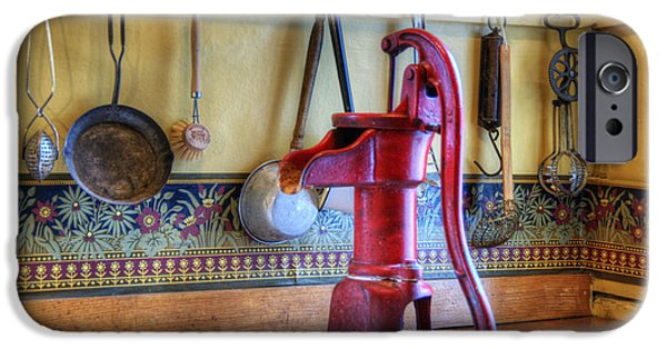 Faucet iPhone Cases - Vintage Water Pump iPhone Case by Juli Scalzi