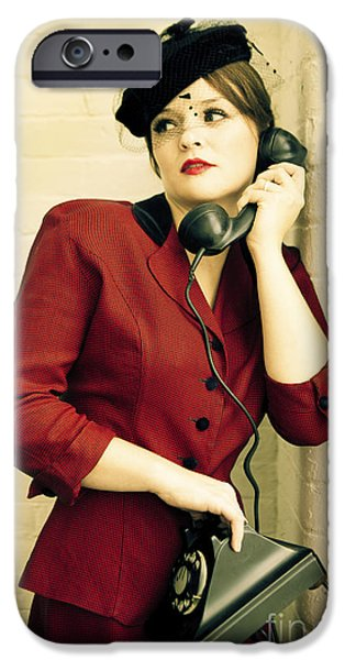 1940s iPhone Cases - Vintage Woman iPhone Case by Diane Diederich