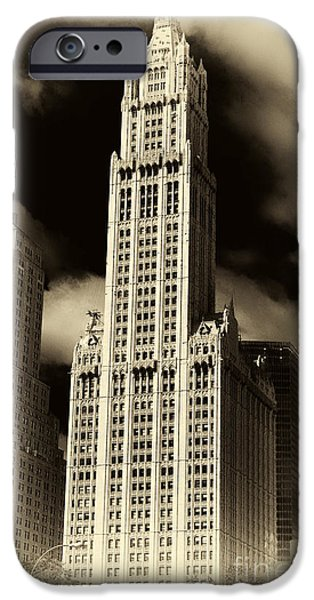 Monotone iPhone Cases - Vintage Woolworth Building iPhone Case by John Rizzuto