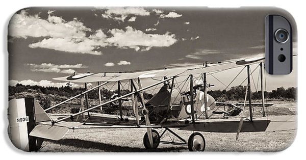 World War One Photographs iPhone Cases - Vintage World War One 1916 Royal Aircraft F.E.8 iPhone Case by Keith Webber Jr