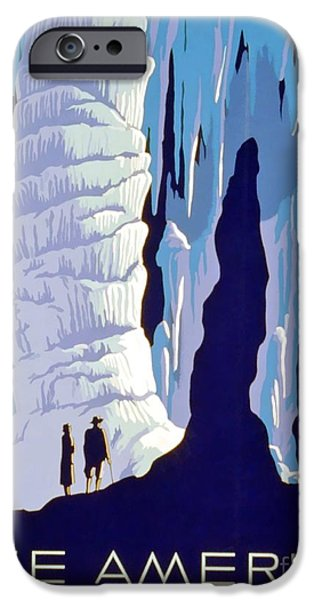 Cavern iPhone Cases - Vintage WPA Poster See America iPhone Case by Wpa