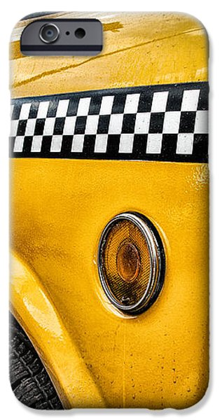 Vintage Yellow Cab iPhone Case by John Farnan