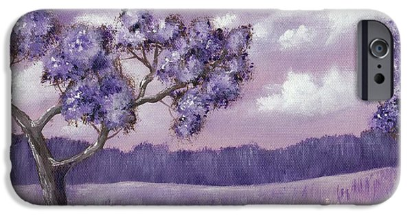 Lilacs Drawings iPhone Cases - Violet Mood iPhone Case by Anastasiya Malakhova