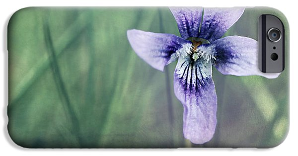 Flora Mixed Media iPhone Cases - Violet still life iPhone Case by Heike Hultsch
