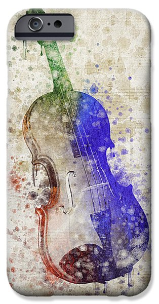Violin iPhone Cases - Violin iPhone Case by Aged Pixel