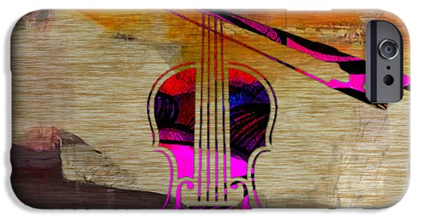 Classical iPhone Cases - Violin and Bow iPhone Case by Marvin Blaine