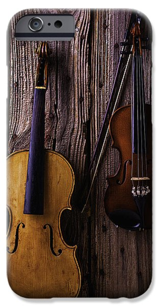 Chip iPhone Cases - Violin and Viola iPhone Case by Garry Gay