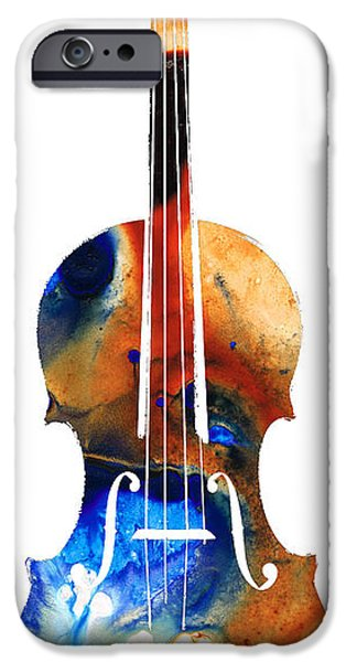 Music iPhone Cases - Violin Art by Sharon Cummings iPhone Case by Sharon Cummings