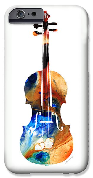 Classical Music iPhone Cases - Violin Art by Sharon Cummings iPhone Case by Sharon Cummings