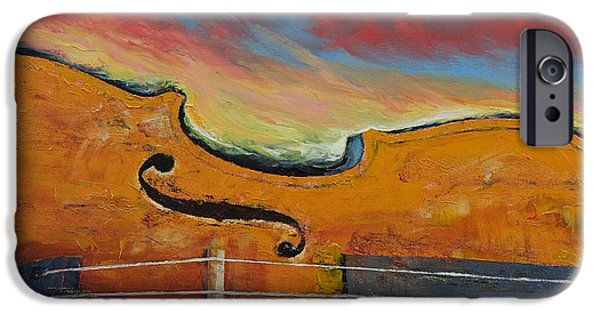 Michael Paintings iPhone Cases - Violin iPhone Case by Michael Creese