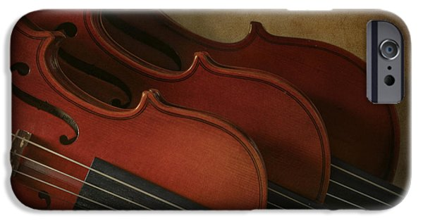 Shape iPhone Cases - Violins iPhone Case by David and Carol Kelly