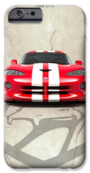 Snake iPhone Cases - Viper GTS iPhone Case by Mark Rogan