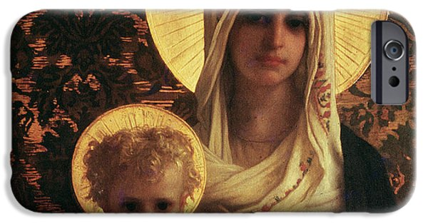 Madonna iPhone Cases - Virgin and Child iPhone Case by Antoine Auguste Ernest Herbert