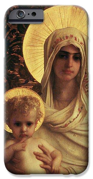 Virgin and Child iPhone Case by Antoine Auguste Ernest Herbert