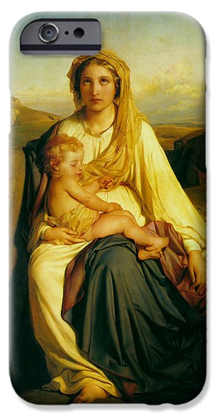 Virgin and Child iPhone Case by Paul  Delaroche