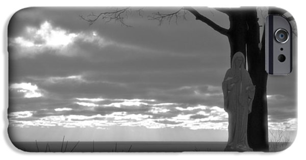 Miracle iPhone Cases - Virgin Mary At Sunset in South Haven Michigan iPhone Case by Dan Sproul