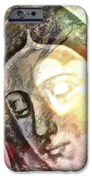 Etc. Digital Art iPhone Cases - Virgin Mother iPhone Case by HollyWood Creation By linda zanini