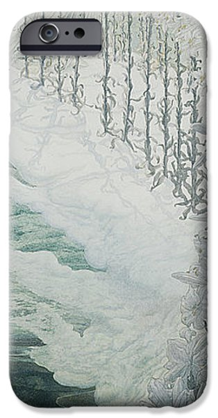 Rural iPhone Cases - Virgin of the Lilies iPhone Case by Carlos Schwabe