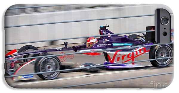 Michelin iPhone Cases - Virgin Race Team ePrix II iPhone Case by Rene Triay Photography