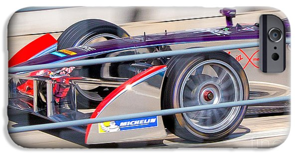 Michelin iPhone Cases - Virgin Race Team ePrix III iPhone Case by Rene Triay Photography