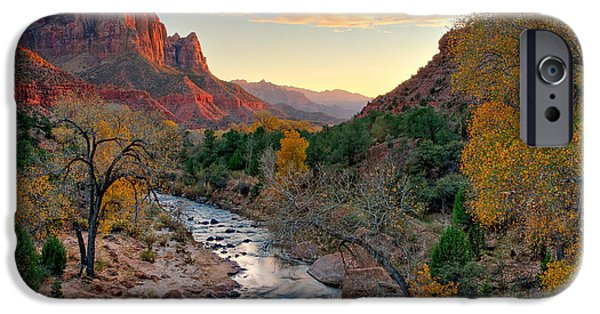 United Pyrography iPhone Cases - Virgin River and the Watchman 2007 iPhone Case by Ralph Nordstrom