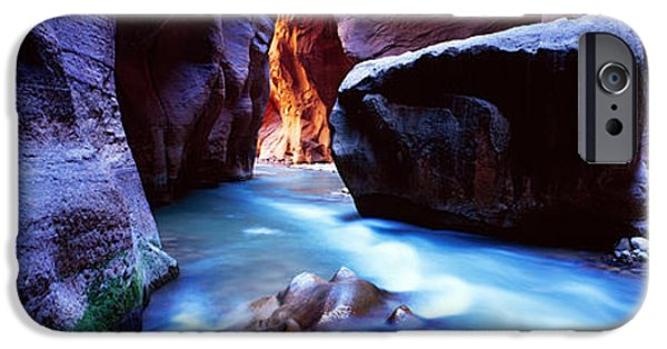 Physical iPhone Cases - Virgin River At Zion National Park iPhone Case by Panoramic Images