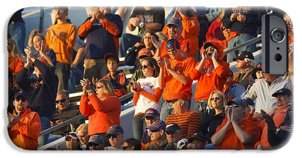 Applaud iPhone Cases - Virginia Cavaliers Football Fans Scott Stadium iPhone Case by Jason O Watson