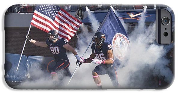 Recently Sold -  - Patriotism iPhone Cases - Virginia Cavaliers Football Team Entrance iPhone Case by Jason O Watson
