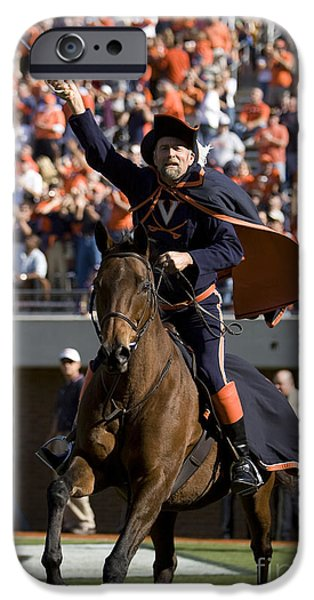 Jason O. Watson iPhone Cases - Virginia Cavaliers Mascot at Football Game iPhone Case by Jason O Watson