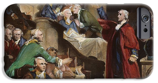 American Revolution iPhone Cases - Virginia: Patrick Henry, 1765 iPhone Case by Granger